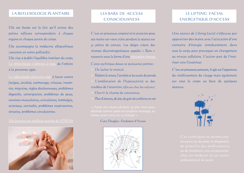Création Flyer 3 volets A4 recto verso Espace Graphique Libourne